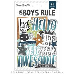 Cocoa Vanilla Studio Boys Rule Die Cut Ephemera