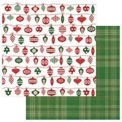PHOTOPLAY MAD 4 PLAID CHRISTMAS 12 X 12 CARDSTOCK TRIM THE TREE