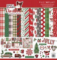 PhotoPlay Mad 4 Plaid Christmas 12 x 12 Collection Kit
