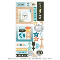Cocoa Vanilla Studio YOU ROCK Chipboard Stickers