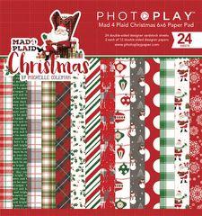 PHOTOPLAY MAD 4 PLAID CHRISTMAS 6 x 6 Pad