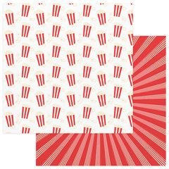 Photo Play Paper - Summer Bucket List 12 x 12 Double Sided Paper - Popcorn Popping