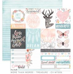Cocoa Vanilla Studio More Than Words TREASURE 12 x 12 Cardstock