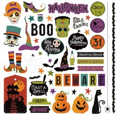 PhotoPlay Matilda & Godfrey Halloween 12 x 12 Element Stickers