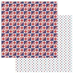 Photo Play Paper - Live Free Collection - 12 x 12 Double Sided Paper - Stars and Stripes