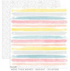 Cocoa Vanilla Studio MoreThan Words RADIANT 12 x 12 Cardstock