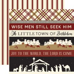 Echo Park Wise Men Still Seek Him Border Strips 12 x 12 Cardstock