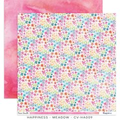 Cocoa Vanilla Studio Happiness Meadow 12 x 12 Cardstock