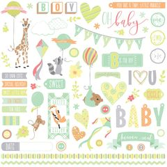 About a Little Boy 12 x 12 Cardstock Element Stickers