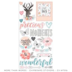 Cocoa Vanilla Studio More Than Words Chipboard Stickers