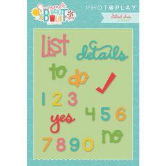 Photo Play Paper - Summer Bucket List Die Set - Planner