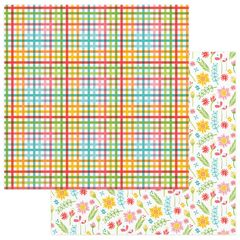 Photo Play Paper - Summer Bucket List 12 x 12 Double Sided Paper - Picnic Table