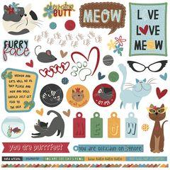 Roxie & Friends 12 x 12 Element Sticker Sheet