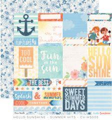 Cocoa Vanilla Hello Sunshine 12 x 12 Paper Summer Hits