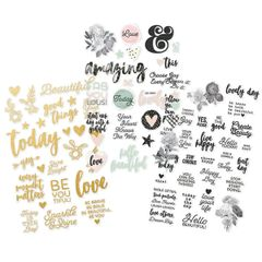 Simple Stories Beautiful Clear Stickers