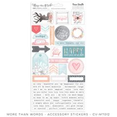 Cocoa Vanilla Studio More Than Words Accessory Stickers