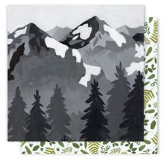 One Canoe Two Creekside 12 x 12 Double Sided Cardstock Mountain View