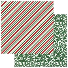 PHOTOPLAY MAD 4 PLAID CHRISTMAS 12 X 12 CARDSTOCK Candy Cane
