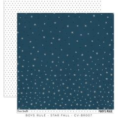 Cocoa Vanilla Studio Boys Rule Star Fall 12 x 12 Cardstock