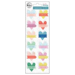 Pinkfresh Studio Everyday Musings Layered Heart Stickers