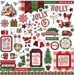 PHOTOPLAY MAD 4 PLAID CHRISTMAS 12 X 12 Element Stickers
