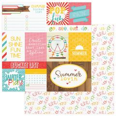 Photo Play Paper - Summer Bucket List 12 x 12 Double Sided Paper - Confetti
