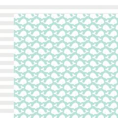 Fancy Pants Summer Sun 12 x 12 Double Sided Cardstock Whales