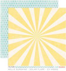 Cocoa Vanilla Hello Sunshine 12 x 12 Paper Solar Flare