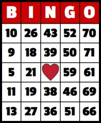 ONE BINGO BOARD FOR BINGO OR BUY EXTRAVAGANZA ON 4/12 AT 8:30