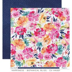 Cocoa Vanilla Studio Happiness Botanical Bliss 12 x 12 Cardstock