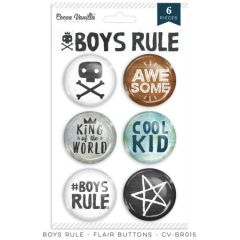 Cocoa Vanilla Studio Boys Rule Flair Buttons