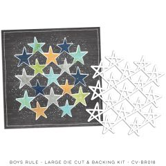 Cocoa Vanilla Studio Boys Rule Large Die Cut & Backing Kit