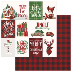PhotoPlay Mad 4 Plaid Christmas 12 x 12 Cardstock Jingle