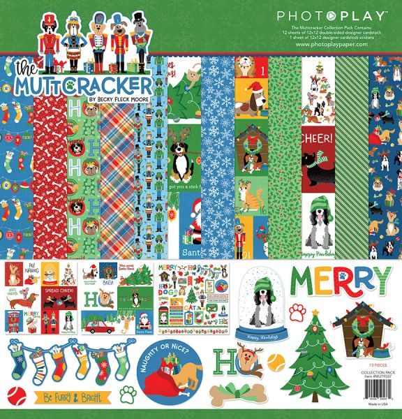 PREORDER PHOTOPLAY THE MUTTCRACKER 4 PC HAPPY SCRAPPY BAG