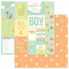 About a Little Boy 12 x 12 Double Sided Paper - Peek A Boo