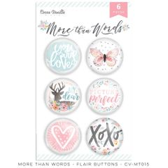 Cocoa Vanilla Studio More Than Words Flair Buttons