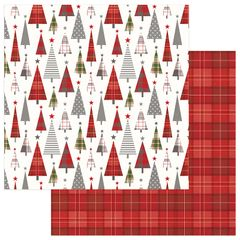 PHOTOPLAY MAD 4 PLAID CHRISTMAS 12 X 12 CARDSTOCK Tree Lot