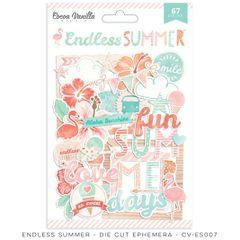 Cocoa Vanilla Endless Summer Die Cut Ephemera