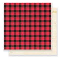 Crate Paper Falala Christmas 12 x 12 Double Sided Cardstock Fireside