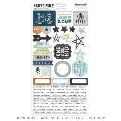Cocoa Vanilla Studio Boys Rule Accessory Stickers