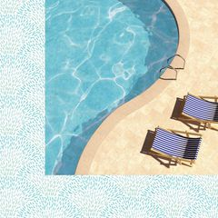 Kaisercraft Summer Splash 12 x 12 Double Sided Paper Poolside