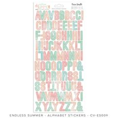 Cocoa Vanilla Endless Summer Alphabet Stickers