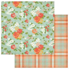 Photoplay Fresh Picked 12 x 12 Double Sided Cardstock Fresh Flowers