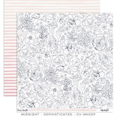 "Cocoa Vanilla Studio Midnight – ""Sophisticated"" Paper"