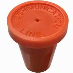 "Orange Communication Line Pack of 20 1/2"" RingGuard Caps"