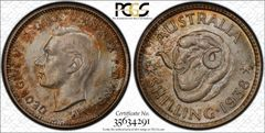 1938 Shilling PCGS Graded MS66