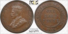 1918i Half Penny PCGS Graded AU58