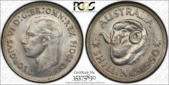 1950 Shilling PCGS Graded MS64