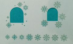 Small Snowflake Stencil with Window