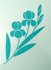 Iris Stencil #1